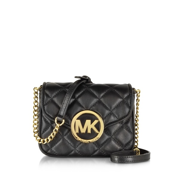5963950ffcac Black leather quilted Michael Kors crossbody bag. M 5a95b6f905f4301f8306f410